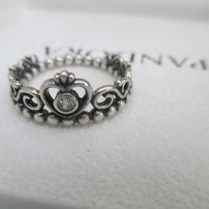 Pandora Sterling Silver Princess Ring